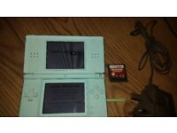 DS Lite Console, Ice Blue with charger stylus and deal no deal game