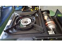 Butane gas cooker in carry box