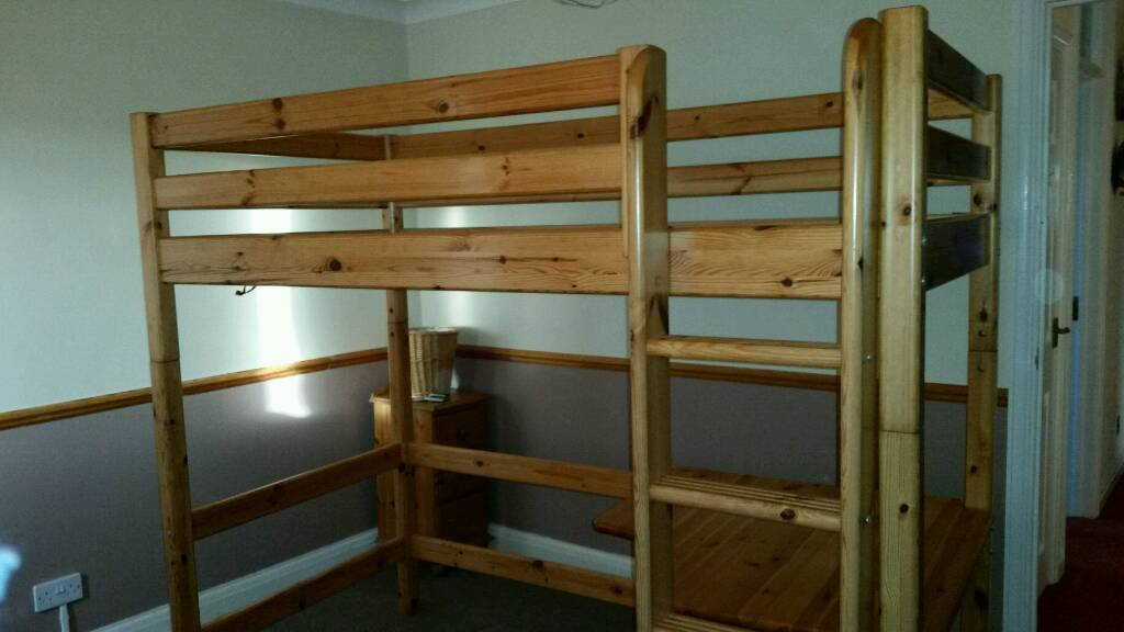 Flexa High Bunk Bed System Single With Ladder And Desk