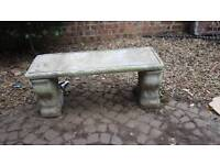 Hand carved stone benches