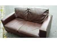 leather sofa £30.
