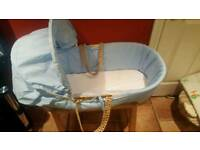 2 × moses basket and stand