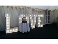 Giant 4ft White Free Standing LOVE letters for SALE. Wedding/Party decor