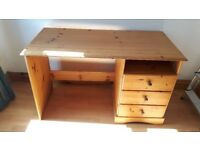 Pine Desk with Office Chair