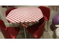 Hygena Amparo Dining Table and 4 Chairs - Black/Red Argos 144/7569