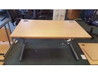 Professional Straight Office Desks in different sizes and colors
