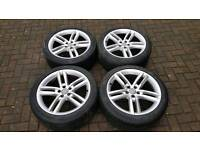 GENUINE AUDI 19 INCH ALLOY WHEELS A6 A7 A8 S7 S6 S LINE QUATTRO 5X112 S8 RS5