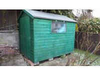 8x6 Groundsman Tongue and Groove Apex Garden Shed, ex condition, 18 months old
