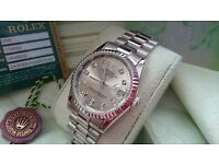 New Swiss Rolex Date Just Silver for sale!£35!