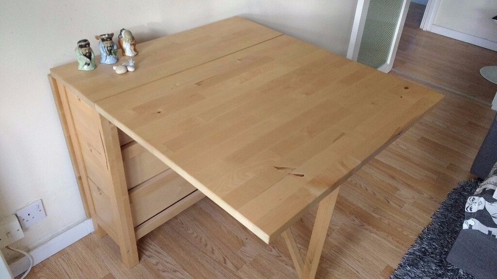 Extendable And Folding Dining Table With 6 Drawers Ikea Excellent Design