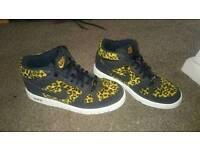 Leopard print Nike trainers