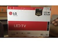 Brand new LG TV 32 inch never been used, still in packaging