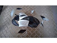 Black & White Fascinator with feathers - Debenhams
