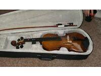 3/4 violin and case vgc