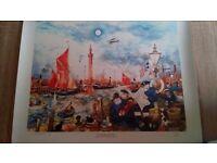 Colin Carr dock scene print
