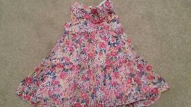 3 dresses -12-18 months - excellent condition - Gap, Petit Bateau, Mayoral Chic