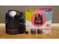 Bosch Tassimo T43 Joy TAS4302GB Coffee Machine (Espresso, Latte, Cappuccino) with pods