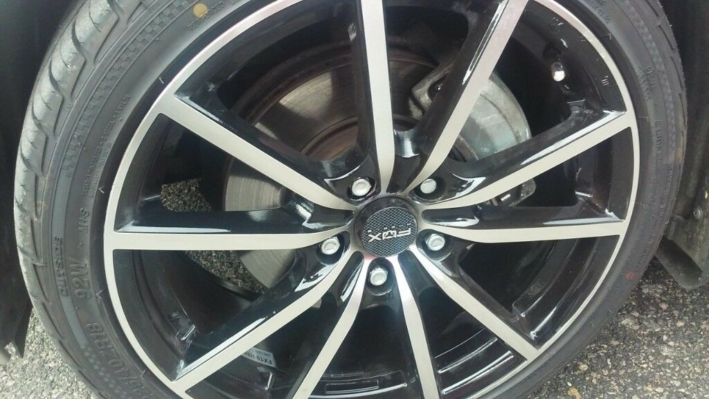 ec0b164d8fc Fox fx10 alloys. 18 quot  with tyres. Less than 3 months old. Fits ...