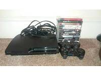 PS3 250GB slim bundle with 2 controllers and 13 quality games