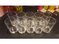 10 x charming water glasses