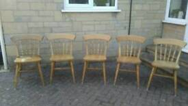 Kitchen chairs x 5