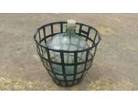 Large Glass Carboy and frame