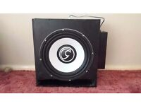 15 Inch Bass Face SPL 15.1 1500 watt subwoofer with DB1.1 1500 amp and Custom box and wiring