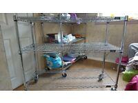 Stainless steel shelving racks