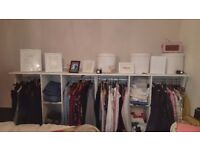 Wardrobe shelving system 40 quick sale 4ft wide each