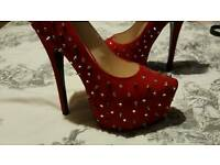 Red heels shoes