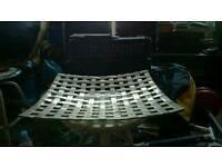 Fruit Bowl, (chromed steel).
