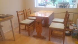 4 seater wooden dining room table