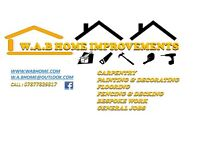 W.A.B HOME IMPROVEMENTS carpenty,fencing&decking,bespoke work and much more