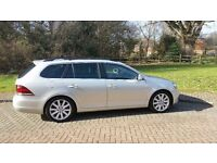 "VW Golf Sportline Estate 2.0L TDI Silver Leaf, Leather Seats, Sunroof, Sat Nav, 17"" Alloys, Manual"