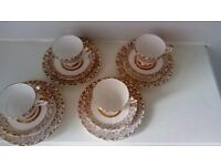 22 carat gold fine bone China set