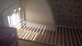 Single metal bed frame with love hearts