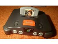 N64 with 007 Goldeneye and Memory Expansion. Retro Nintendo