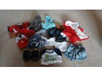 Build a Bear (boy's) clothes bundle + tent
