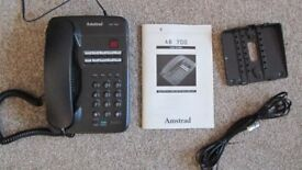 Retro Amstrad telephone and answering machine
