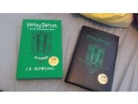 Harry Potter collectable books in house colours - slytherin