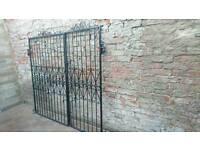 Wrought-iron gates