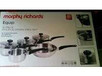 Morphy Richards equip pan set **brand new**