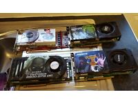 4 x graphics cards