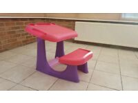 Child workstation desk table and chair set
