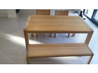 Quality Light Oak Table and Chairs