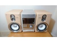 Philips Stereo with 5 CD Changers Player, Remote control, FM stereo and stereo input,