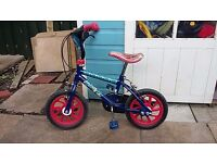 Childs spiderman bike (suitable for 4 year old)