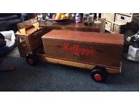 Toybox seat wooden Volvo truck