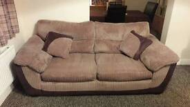 DFS 2 Seater Fabric Sofa Brown