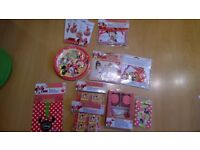 Minnie Mouse Cafe birthday party medium bundle- games, banner, plate, party bag, cupcake, invite